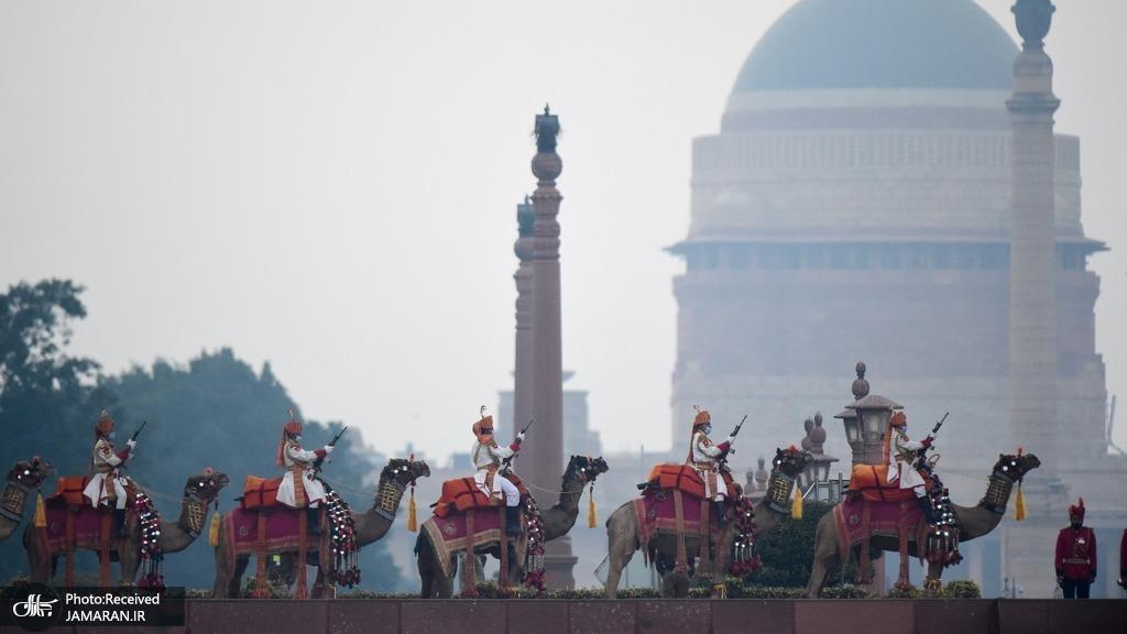 عکس: نیروهای امنیتی شتر سوار هندی