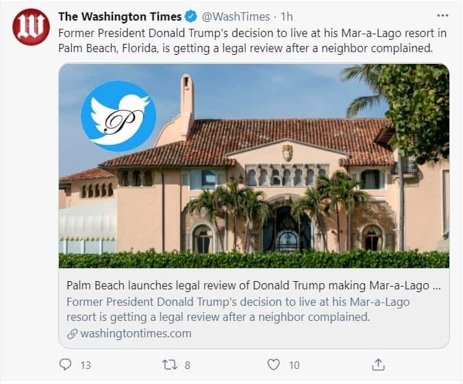همسایه ترامپ از او شکایت کرد
