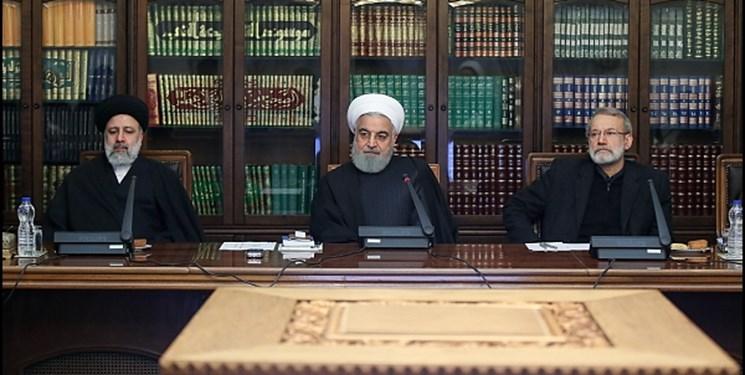 عکسی از روحانی، لاریجانی و رئیسی در جلسه امروز شورای عالی انقلاب فرهنگی