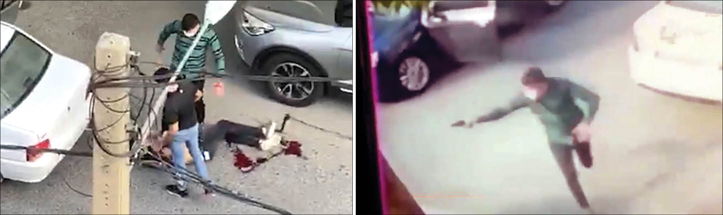 ۶ جوان سابقه دار در سعادت آباد بر سر یک دختر با تفنگ به جان هم افتادند +عکس