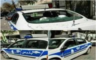 ماجرای تخریب خودروی پلیس در خوی چه بود؟ +عکس