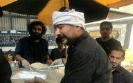 حضور بازیگران در مراسم پخت غذای نذری +تصاویر