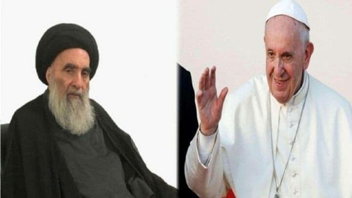دیدار پاپ با آیتالله سیستانی در نجف اشرف