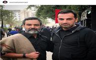 عکس یادگاری دو بازیگر ایرانی در نجف