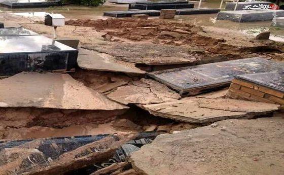 تخریب قبرستان در بوشهر +عکس