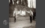 آزمایش جلیقه ضد گلوله در قدیم +عکس