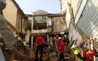 ریزش ساختمان یک فروشگاه زنجیرهای در تهران