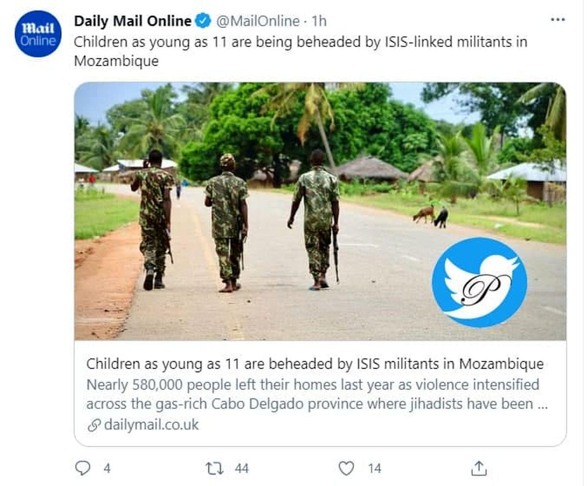 جنایت جدید داعشیها/گردن زنی کودکان در موزامبیک!