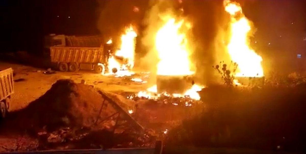 پرتاب نارنجک دستی در درگیری دو خانواده/جواهر فروشی منفجر شد! +عکس