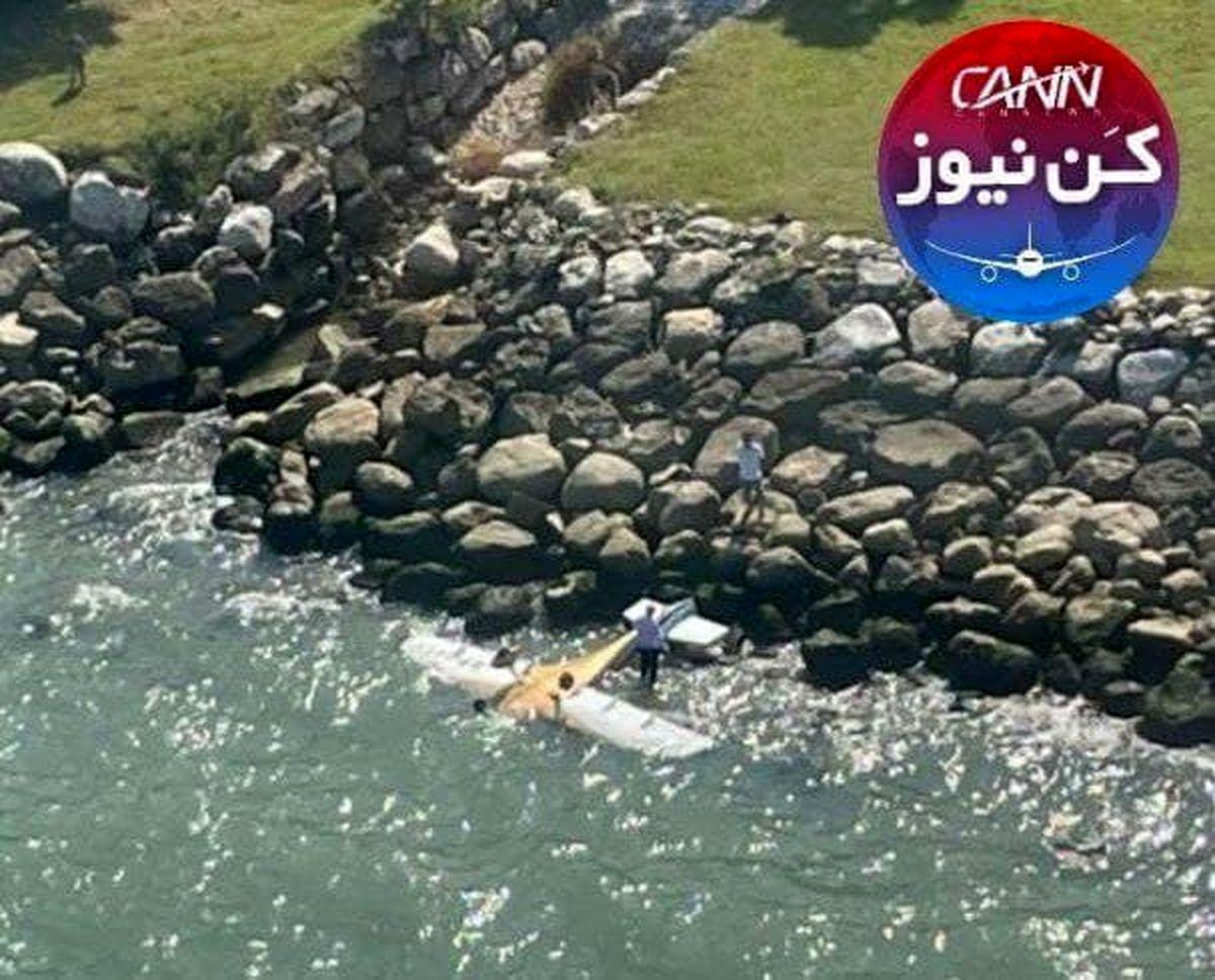 سقوط هواپیمای فوق سبک در نوشهر  +اولین تصویر