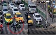 موتورسواری که تحسین کاربران را برانگیخت +عکس و فیلم