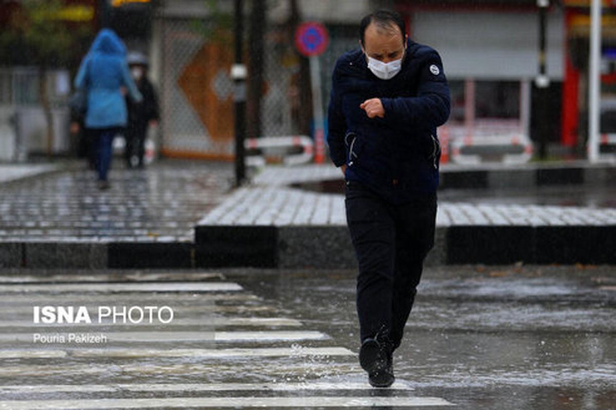 تصاویر: باران پاییزی در همدان