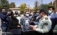 تصاویر: پیمان قاسمخانی و دخترش در پلیس آگاهی