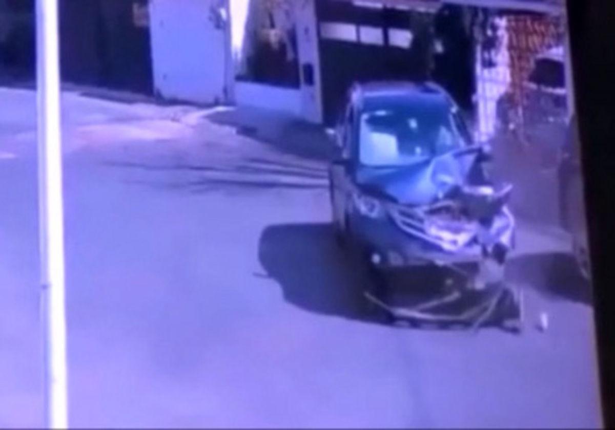 بیاحتیاطی راننده زن خودروی شاسی بلند را نابود کرد + فیلم