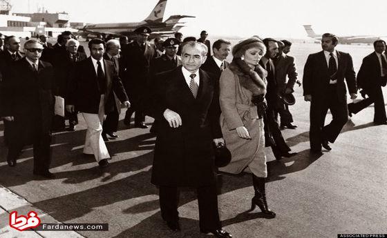 عکس: لحظه فرار محمدرضا پهلوی و فرح دیبا از کشور