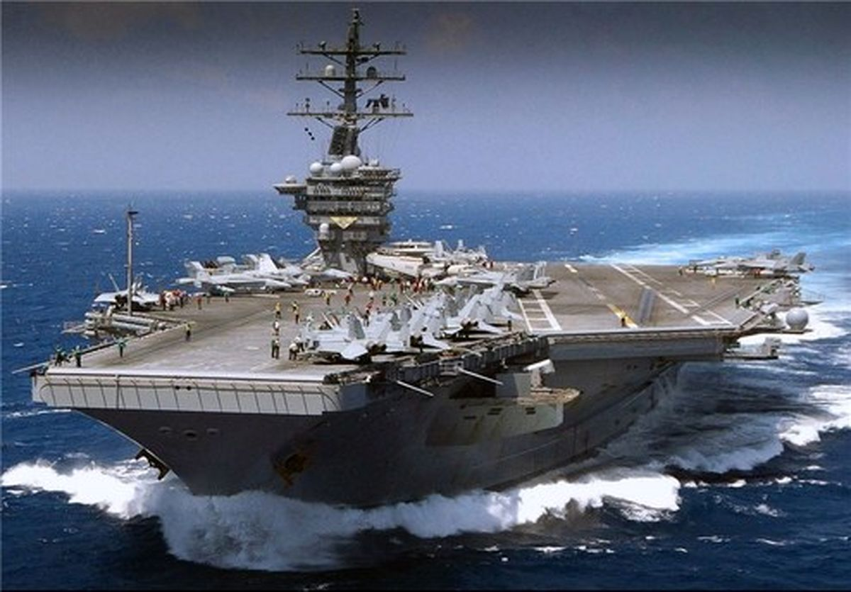 آمریکا: موشک ایرانی در ۱۰۰ مایلی ناو «نیمیتز» فرود آمد