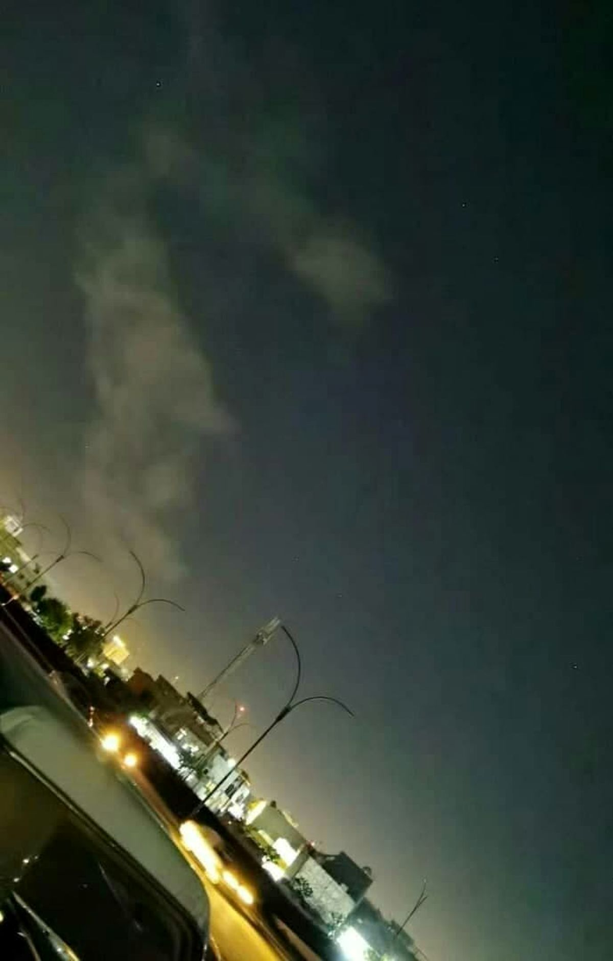نخستین تصویر از حملە راکتی بە فرودگاە اربیل