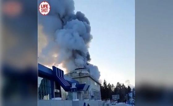 آتشسوزی مهیب در فرودگاهی در مرز روسیه-چین +فیلم