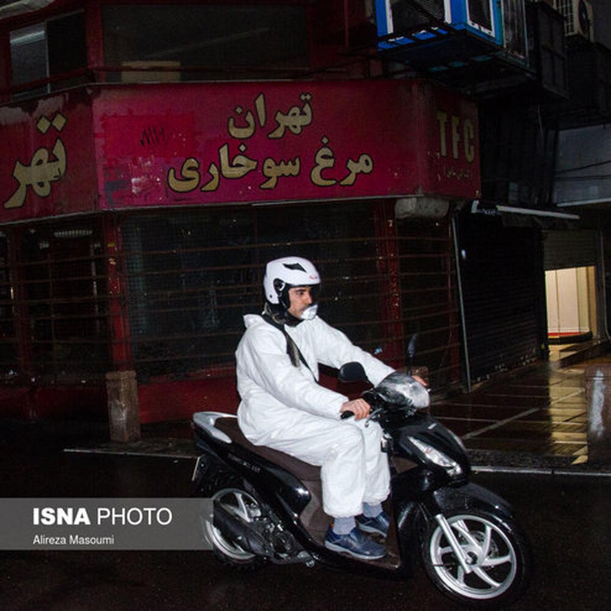 پوشش ضد کرونایی عجیب مرد تهرانی +عکس