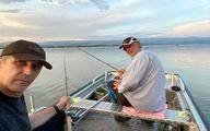 کواچ و ولادیمیر هنگام ماهیگیری +عکس