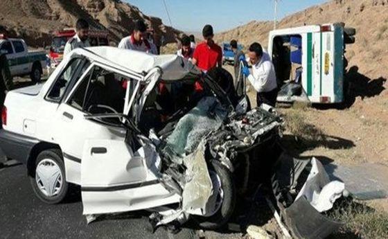 هشت کشته در تصادف امروز پراید با تریلی