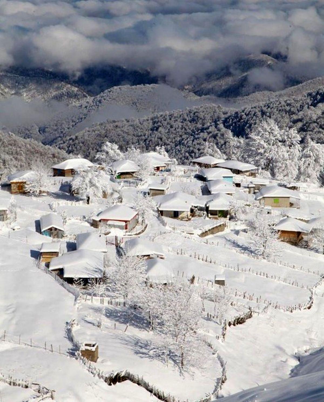 روز برفی در ارتفاعات تالش +عکس