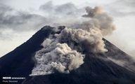 تصاویر: فوران کوه آتشفشان مراپی