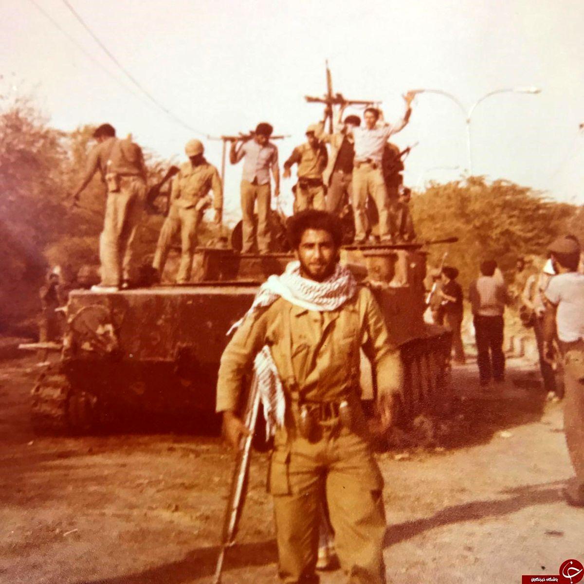 تصویر زیرخاکی حمید معصومی نژاد در جبهه