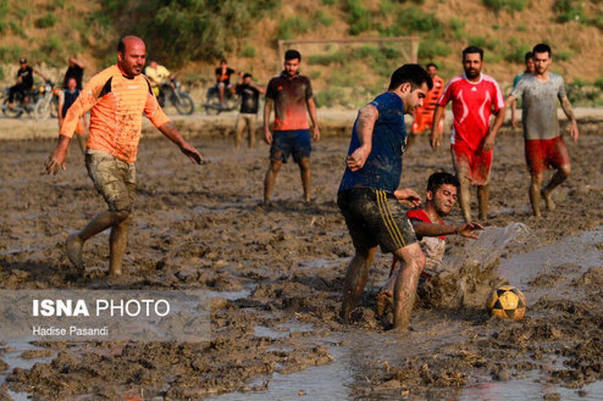 تصاویر: فوتبال در شالیزارهای شمال