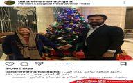 کریسمس بازیگر زن و همسر جدیدش +تصاویر