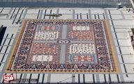 تصاویر: بزرگترین و زیباترین فرش سنگی جهان در تبریز