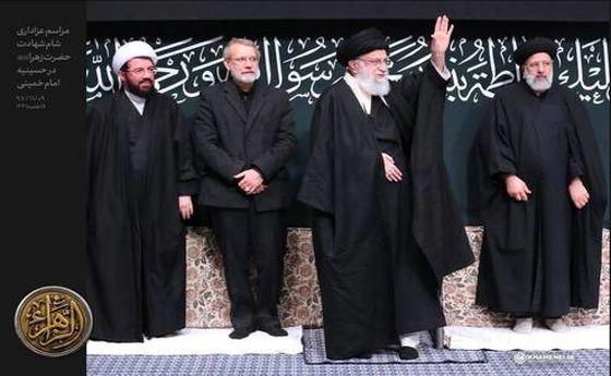 عکس: عزاداری شام شهادت حضرت زهرا در حسینیه امام خمینی