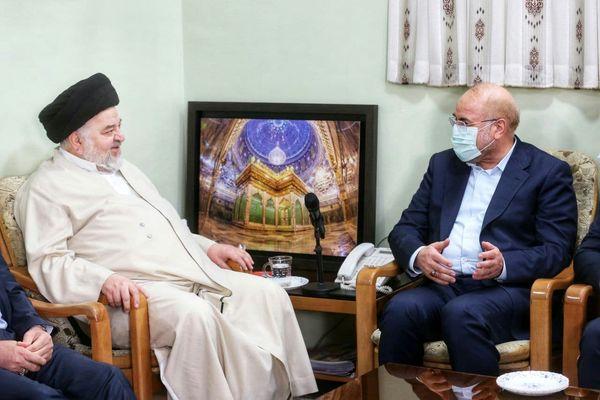 دیدار  قالیباف با نماینده آیت الله سیستانی در ایران