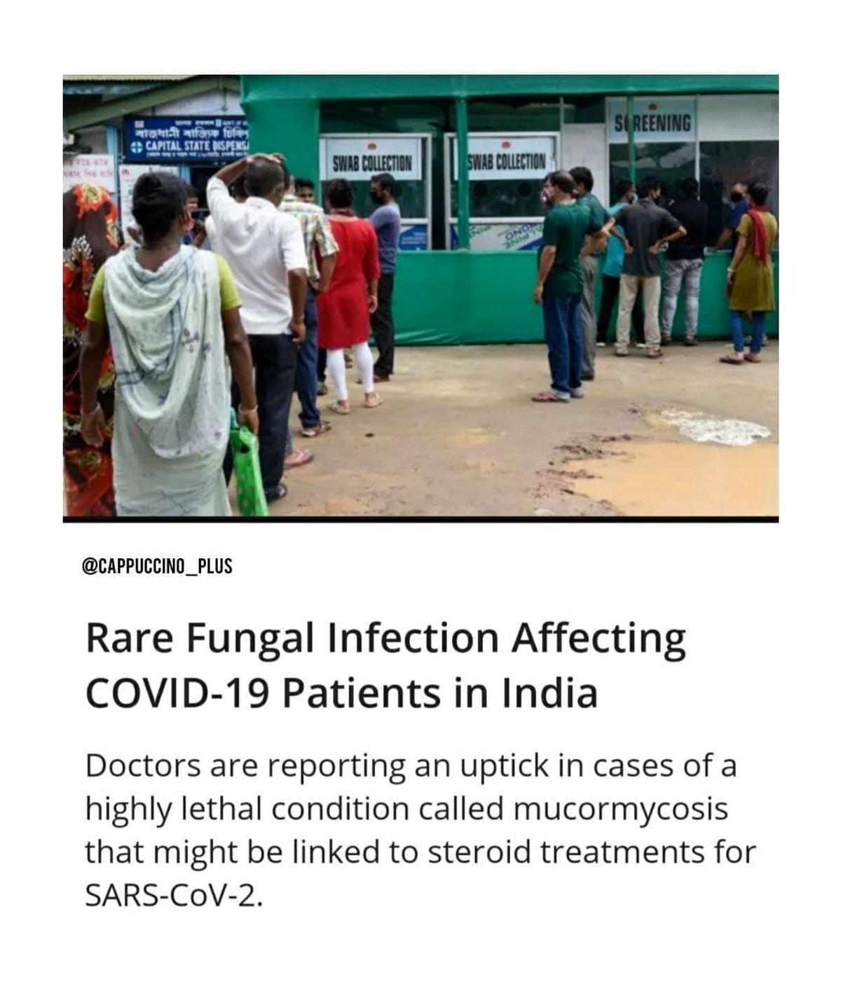 علت عفونت قارچ سیاه در مبتلایان به کرونای هندی