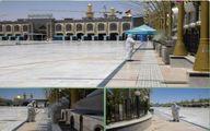 عملیات ضد عفونی بین الحرمین +عکس