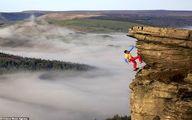 تصاویر: آویزان شدن از صخره با یک دست و بدون طناب!