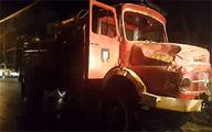 فیلم: حمله اغتشاشگران به ماشینهای آتشنشانی