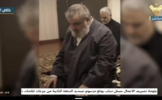 آخرین نماز حاج قاسم با سید مقاومت +عکس