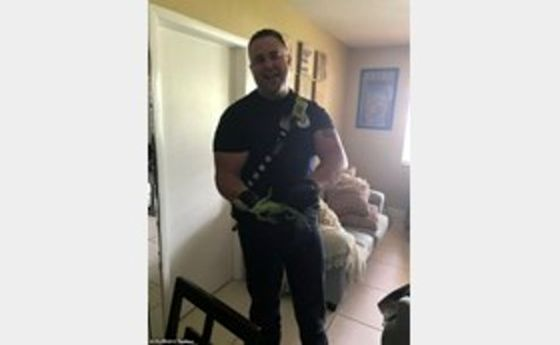 غافلگیری مرد آمریکایی از دیدن موجود سبزرنگ در خانه! +عکس