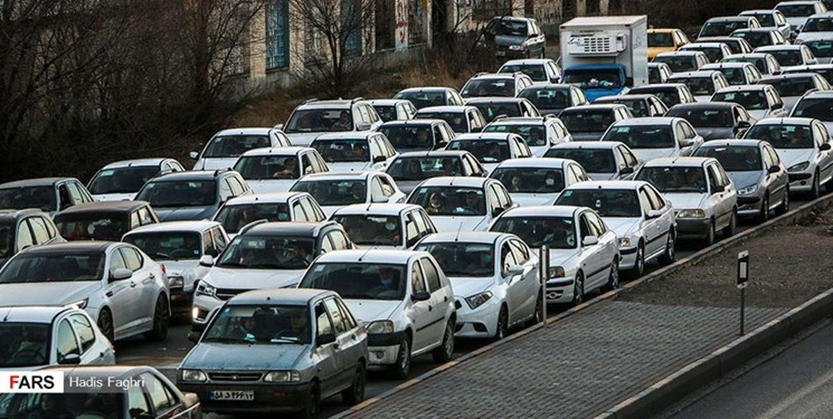 ترافیک سنگین در۳ بزرگراه پایتخت