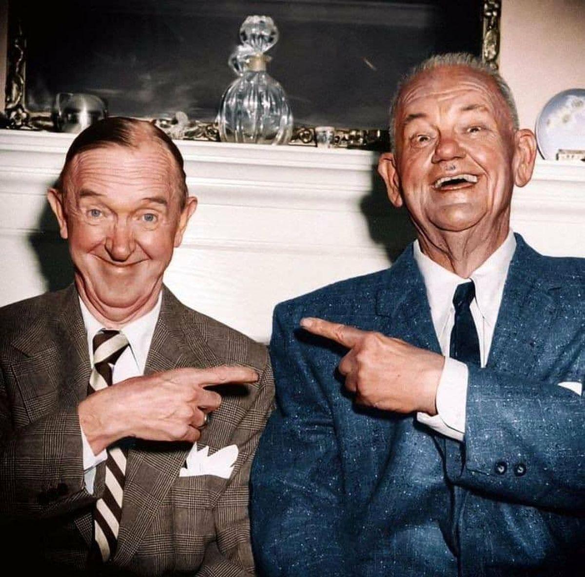 آخرین عکس رنگی لورل و هاردی