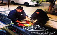 علی انصاریان و مادرش سر مزار پدر +عکس
