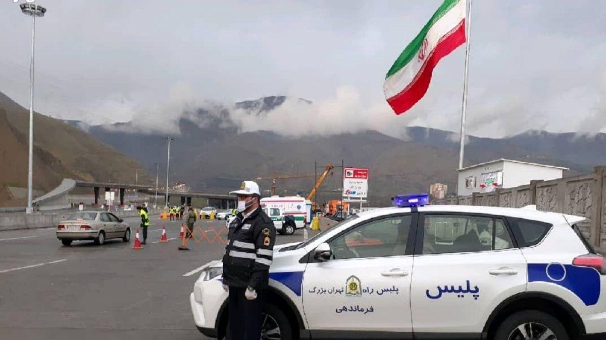ماسک دودگرفته افسر پلیس راه تهران همه را متعجب زده کرد+عکس