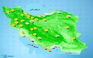 بارش باران در برخی استانها +نقشه