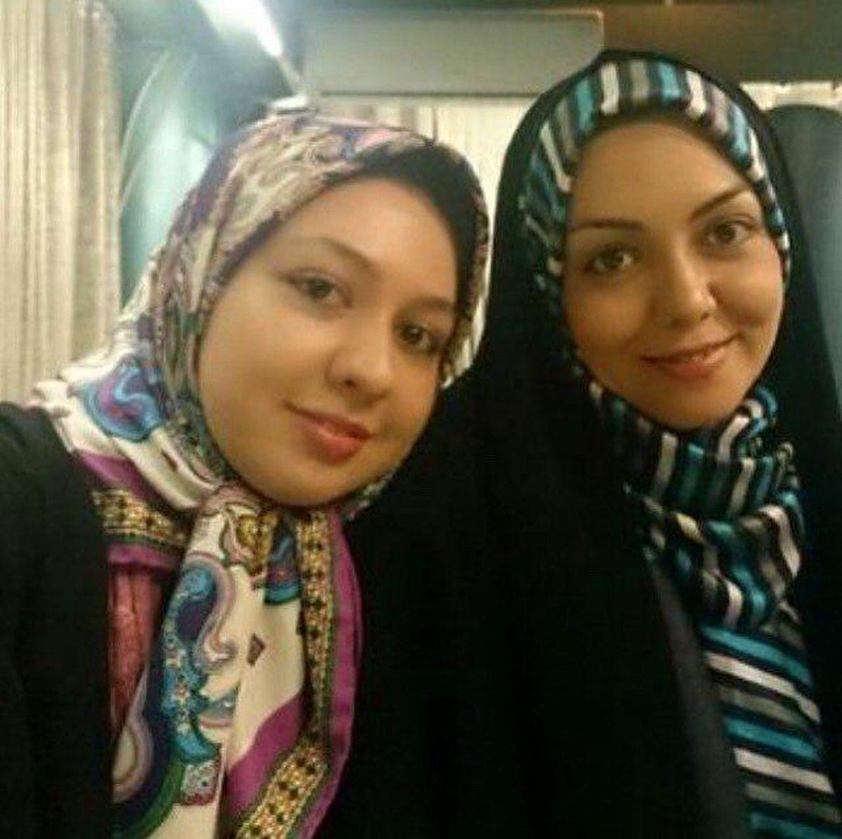آزاده نامداری در کنار خواهرش آذین +عکس