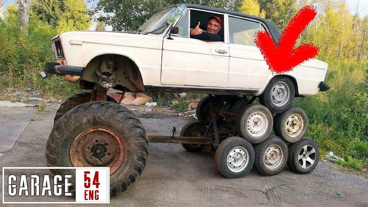 این خودرو ۱۴ چرخ دارد +عکس