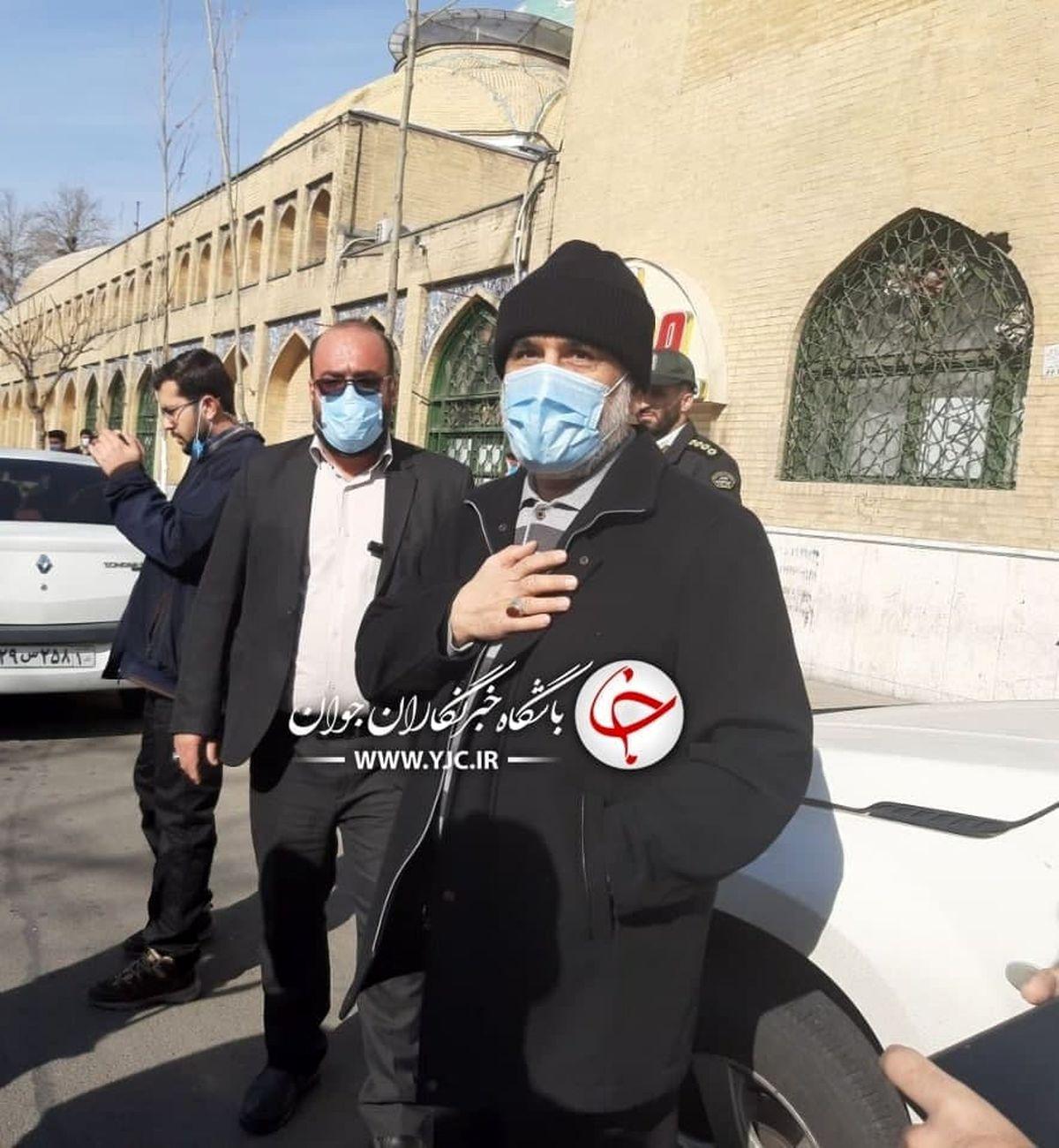 عکس: سردار حاجی زاده در مراسم راهپیمایی ۲۲ بهمن