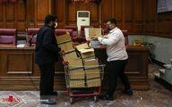 تصاویر: حمل پرونده سنگین حسن رعیت در دادگاه سوژه شد