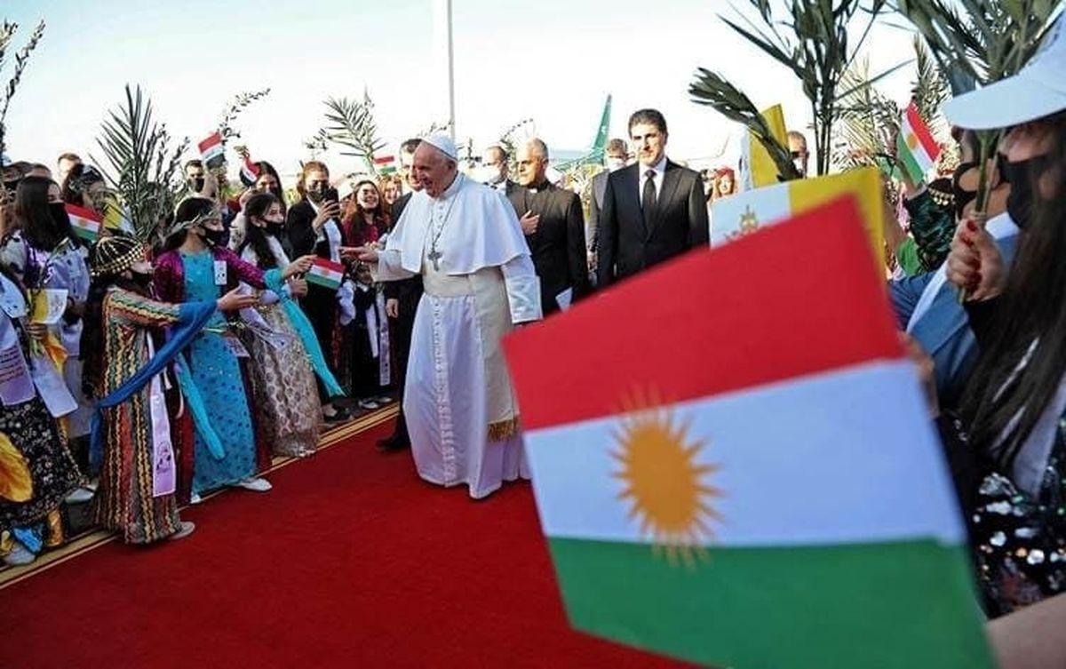 عکس: استقبال از پاپ فرانسیس در اربیل