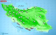 آب و هوای استان ها در آخرهفته + نقشه